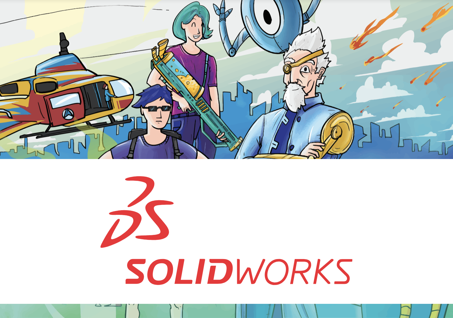 3D design and simulation with Solidworks and comic books