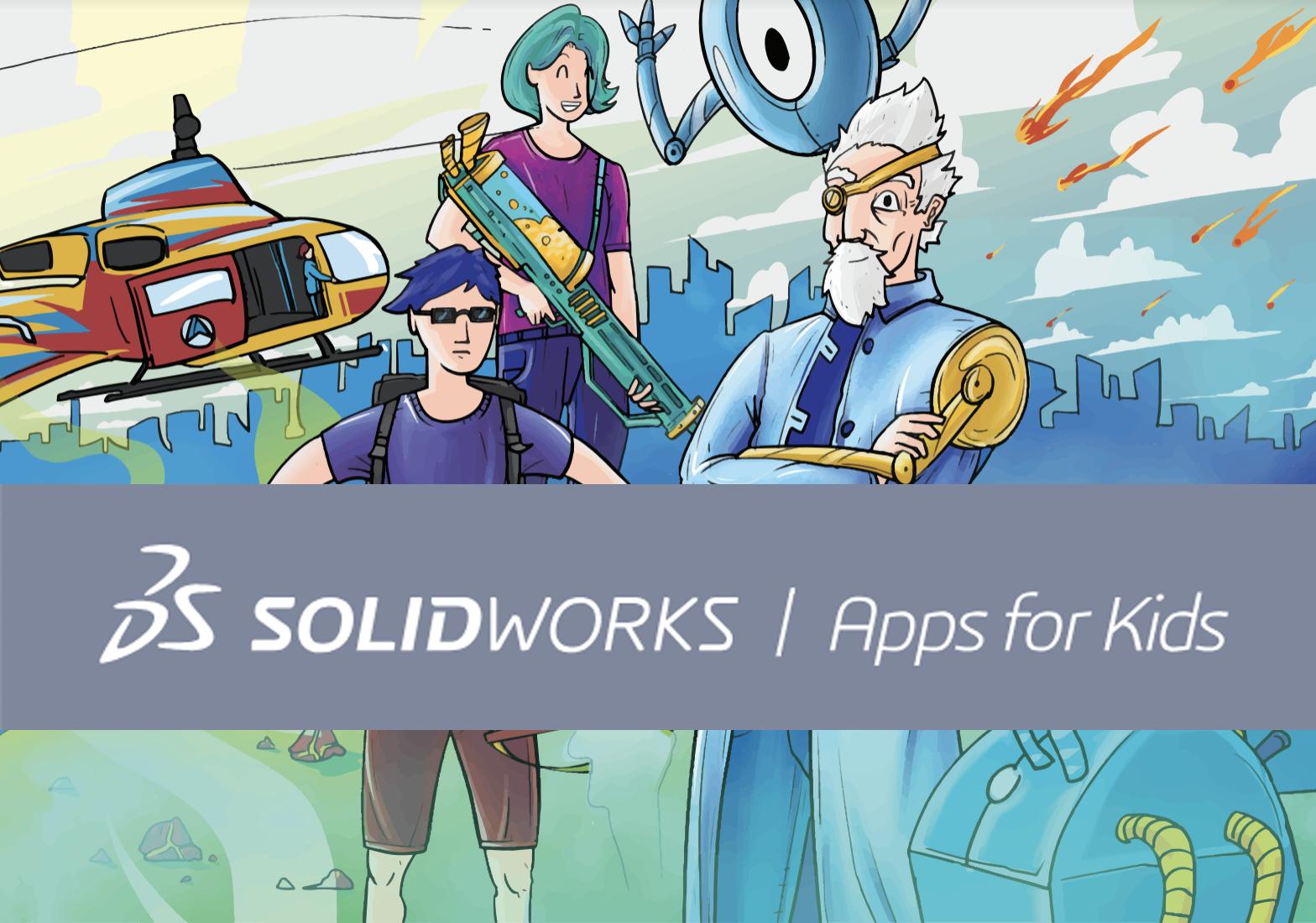 Solidworks Apps for Kids, projektavimas pradinukams, pirmoji dalis
