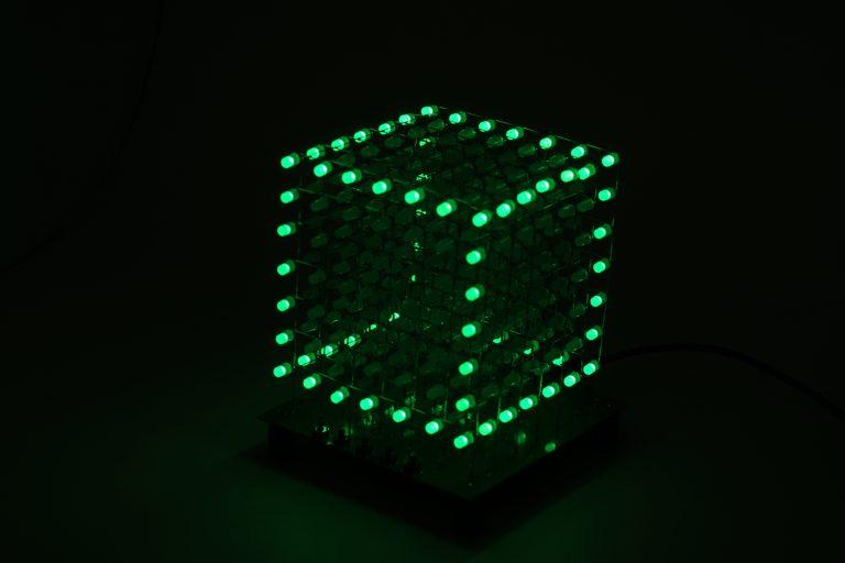 LED kubo programavimas su Arduino Mega
